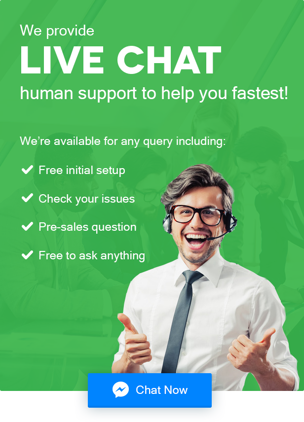 Human Live Chat Support