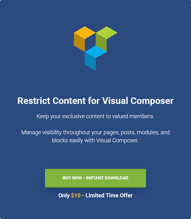 Restrict Content for Visual Composer